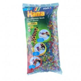 Translúcido con purpurina  Mix Hama Midi 6000