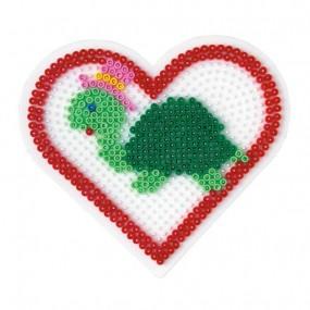 Pack 4 placas circular, corazón, cuadrada y hexagono
